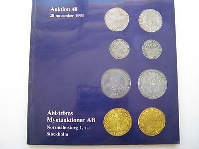 Ahlstroms coin auction catalogue, number 48, 20/11/1993.