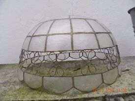 One Vintage or Classic fretwork lamp shade
