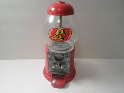 Jelly Belly Dispenser Die Cast Bean Candy Machine Glass & Metal Coin Operated