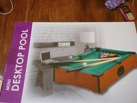 Mini Desktop Pool Table - only been out of the box once - unwanted present