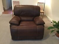 Immaculate Faux Suede Electric Recliner Chair