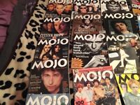 Big lotof Mojo magazines 90s -2000 including some Beatles issues