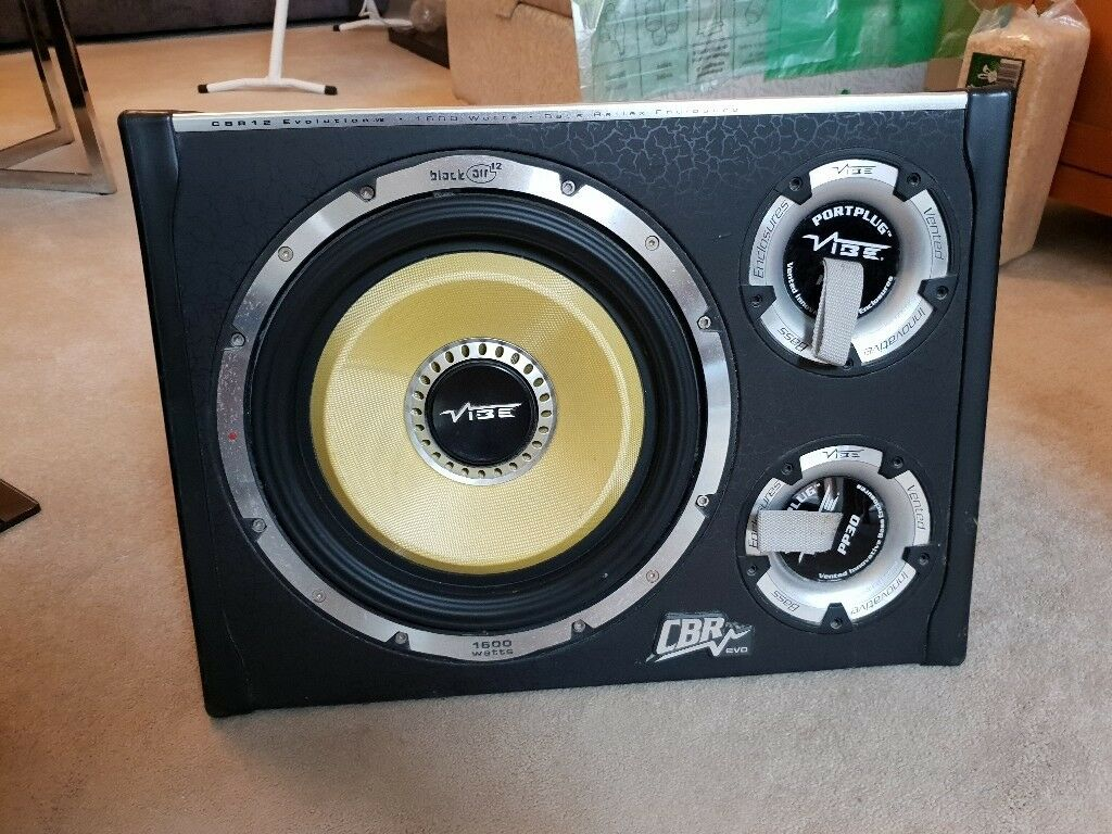 Vibe Cbr 12 Evo Active Subwoofer With Amplifier Built In Wiring Home Audio Equipment Kit Included
