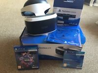 PS VR with PS4 camera and one game
