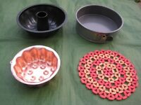 Metal Cake Tin, Copper Jelly Mould and Cooling Mat