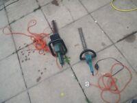 Electric hedge cutters