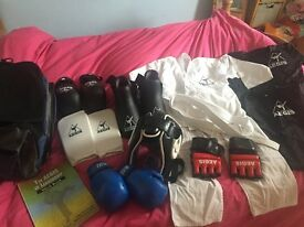 Full set of protective gear for mixed martial arts