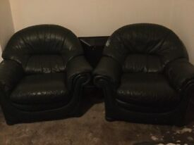 3 SEATER AND 2 SINGLE SOFA CHAIRS