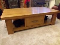 Next solid pine coffee table with draw.