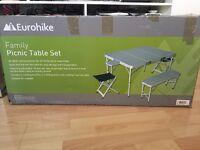 Eurohike family picnic table folding