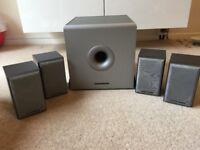 Mordaunt Short Speaker MS302 (x4) MS308 Sub Woofer - Surround Sound