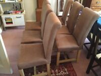 Dining chairs - oak and leather Willis & Gambier