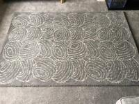 IKEA grey patterned rug