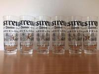 Estrella Half Pint Glasses x6 New