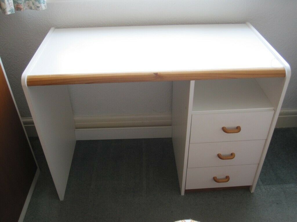 Formica Chest of drawers and desk unit.