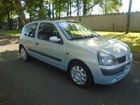 2002 RENAULT CLIO 1.2 AUTOMATIC 3 DOOR 71000 MILES