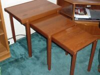 Nest of 3 'McIntosh' solid wood coffee tables in great condition