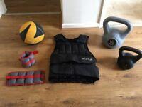 Various training equipment