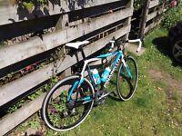 Pinarello FP2 Carbon Road Bike 55cm Large...22 Speed...Team Sky Colors