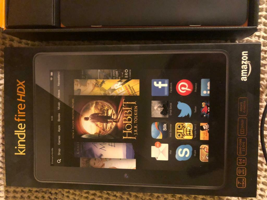 Kindle Fire HDX boxed with cases | in Winscombe, Somerset | Gumtree