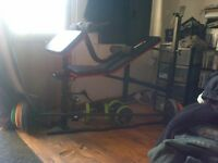 maximuscle weights bench w/ leg attatchments and weights