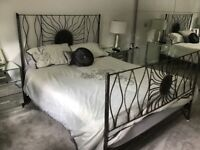 Bespoke Hand made solid steel king size bed frame cost £1800