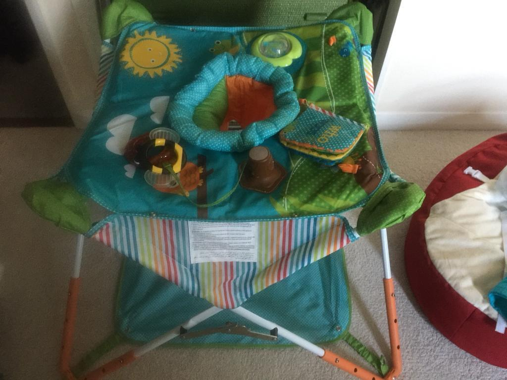 Pop n Jump, bean bag and Fischer Price baby bouncer
