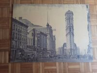 New York street scene / Vintage Art / Picture / Photo Art
