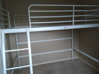 Tromso Double High Bed White