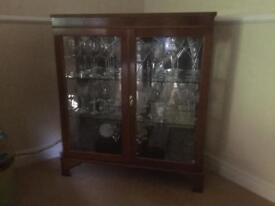 Glass drinks cabinet
