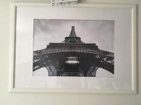 Eiffel Tower print and frame