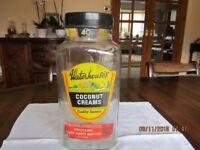 Original Glass Sweet Jars all with original lids some with original labels