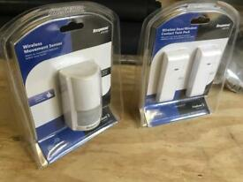 Wireless Burglar Alarm IR sensor and Door/Window set