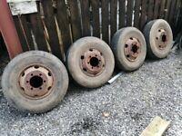 Tractor trailer wheels 10 R 17.5 10r17.5