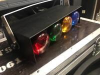 4 Way NDJ Traffic Light DJ Disco Retro Stage Effect Unit Old School Red Green Blue Amber RGB RGBA
