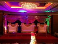 Asian Wedding, Floral Stages, Mehndi Stages, Chair covers & House lighting for Hire