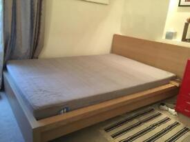 IKEA Malm Double Bed with Sultan Harestua Mattress.