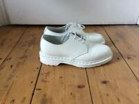 Dr Martens White Leather Shoes Size UK 5 / EU 38