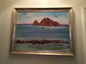 Oil painting of Sugar Candy Rock NSW