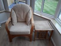 Conservatory chair and coffee table