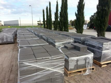 300x300x40mm Sandstone Charcoal or Natural Cement Pavers