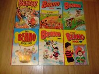 1980's Beezer and Beano's book's.