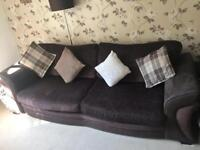 DFS Sofa and Lounger Swivel Chair Set