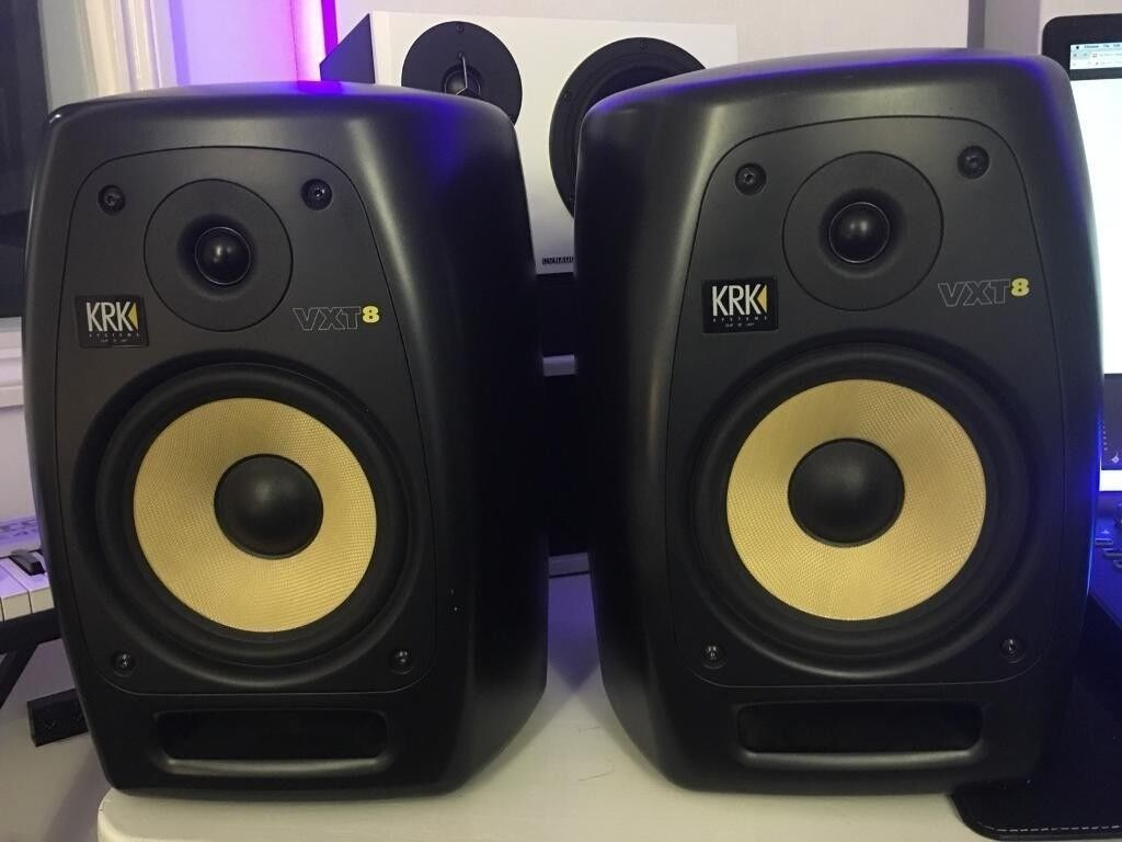 krk vxt 8 active studio monitors pair in hammersmith london gumtree. Black Bedroom Furniture Sets. Home Design Ideas