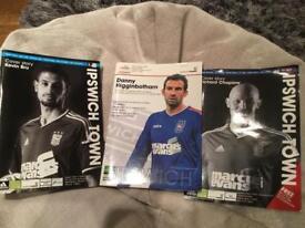 3 Ipswich town football programmes
