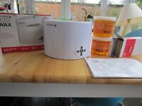 Salon system wax warmer and accessories