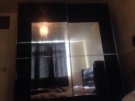 Sliding door mirror wardrobe
