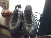 1 pair nike shox trainers size 11 new without tags black