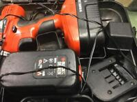 Black and decker 18 V hammer drill 2 batteries spares or repairs