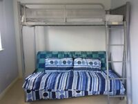 Triple Bunk bed with sofa bed at bottom plus FREE mattresses